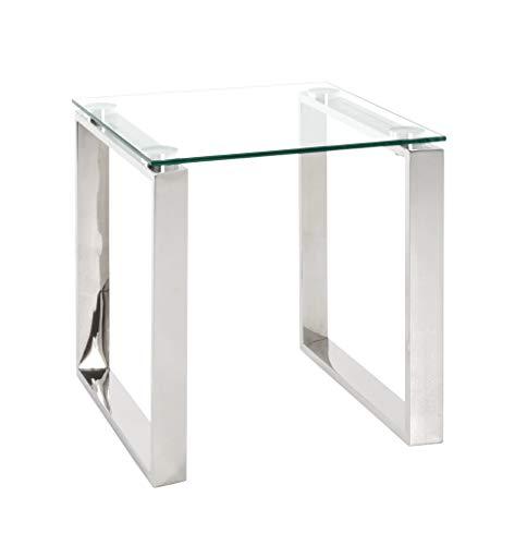Haku Möbel Tavolino Basso, Acciaio Inossidabile, Argento, 42 x 42 x 45 cm