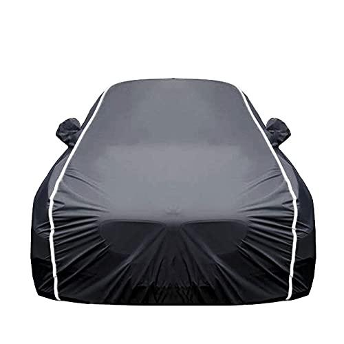 Car Cover Cubierta de Coches Compatible con Ford Ecosport Edge, Funda para Coche Exteriores, Protección contra la Lluvia y el Sol, con candado y Bolsa de Almacenamiento (Color : Black, Size : Edge)