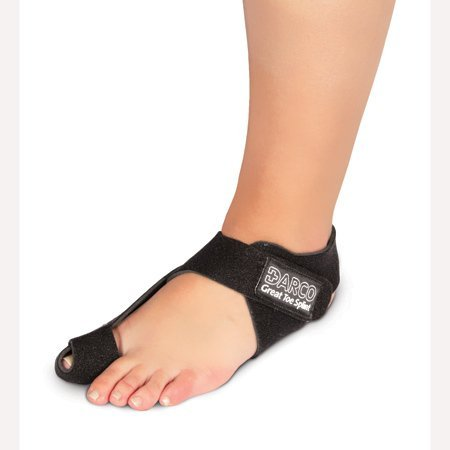 DARCO GTS Black Great Toe Alignment/Bunion Adjustable Splint for Hallux Valgus and Other Joint Conditions (LG/Left W8-11/M10-13)