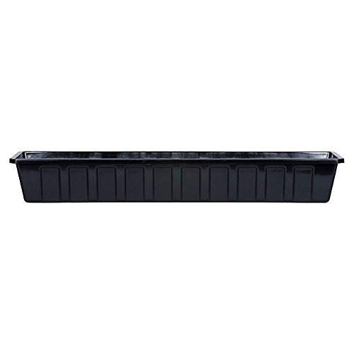 Novelty Poly-Pro Plastic Flower Box Planter, Black, 36-Inch