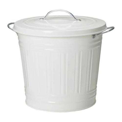 IKEA KNODD-Abfalleimer mit Deckel, Weiß