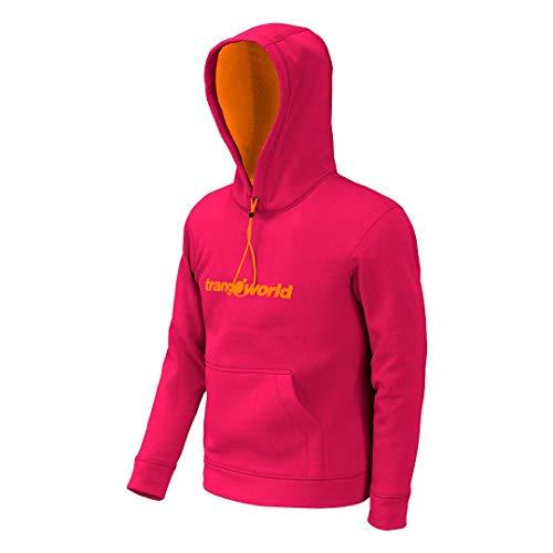 TRANGOWORLD Kura Sweat-Shirt Mixte Enfant XXL Fuchsia / doré