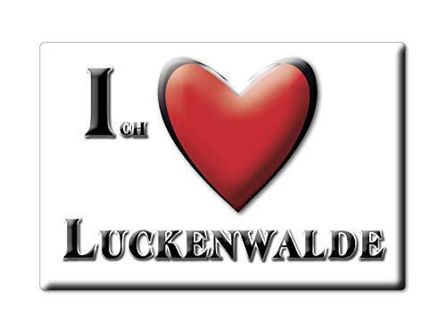 Enjoymagnets LUCKENWALDE (BB) Souvenir Deutschland Brandenburg Fridge Magnet KÜHLSCHRANK Magnet ICH Liebe I Love