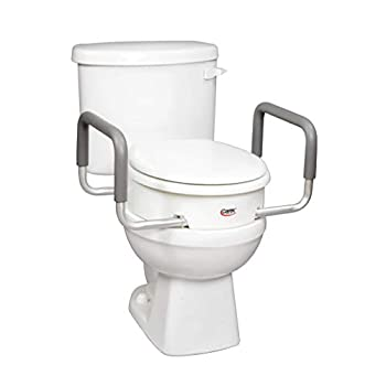 toilet riser with arms