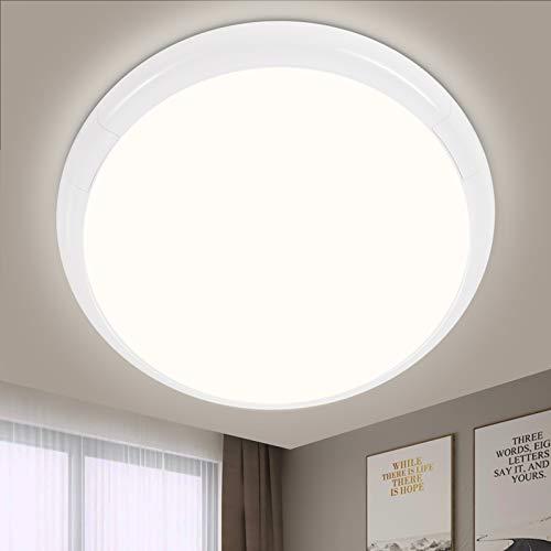LED Deckenleuchte Rund, Oraymin 15W 1500lm Bad Deckenlampe LED, IP44 LED Deckenleuchte Neutralweiß 4000K, ideal für Schlafzimmer, Wohnzimmer, Küche, Balkon,Flur, Schlafzimmerlampe, Ø25cm