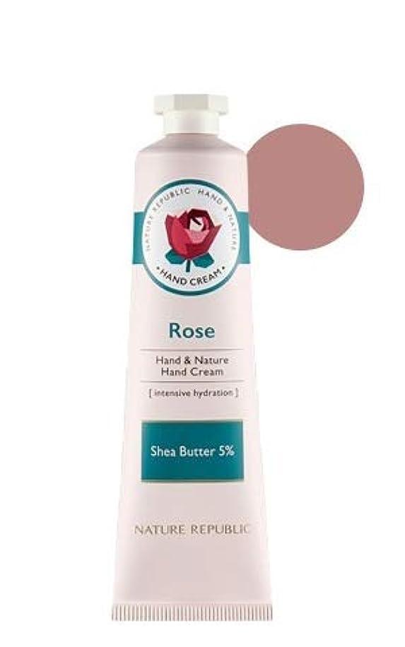 チャンバー植生松[リニューアル]ネイチャーリパブリック NATURE REPUBLIC ハンドアンドネイチャーハンドクリーム Hand & Nature Hand Cream (# ROSE) [並行輸入品]