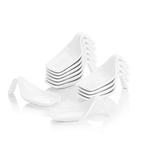 MALACASA, Serie Ramekin.Dish, 6/12 tlg. Porzellan Mini Muffin Backförmchen Kuchenform Souffléförmchen (Set- 12 tlg. 11 x 5 x 3,5 cm)