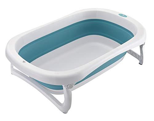 Glenmore Baignoire Pliante Bebe Baignoir Pliante Enfant sur Pied Retractable Bassine Bleu