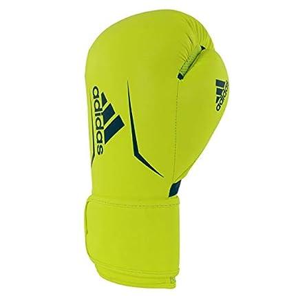 adidas AdSBG100 Speed 100 - Guantes de Boxeo para Adultos, Color Amarillo y Azul