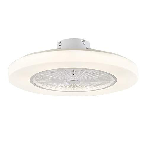 Ventilador de Techo con Luz Regulable 72W, Lámpara Ventilador Techo con Control Remoto LED para Dormitorio, Sala de Niños, Comedor, 3 Colores, 3 Velocidades de Viento Ajustables,Blanco