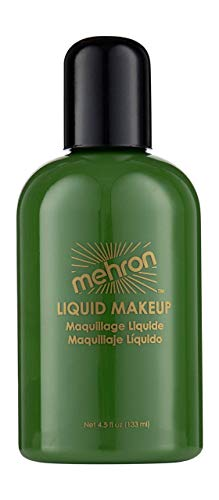 Mehron Makeup Liquid Face and Body Paint (4.5 oz) (GREEN)