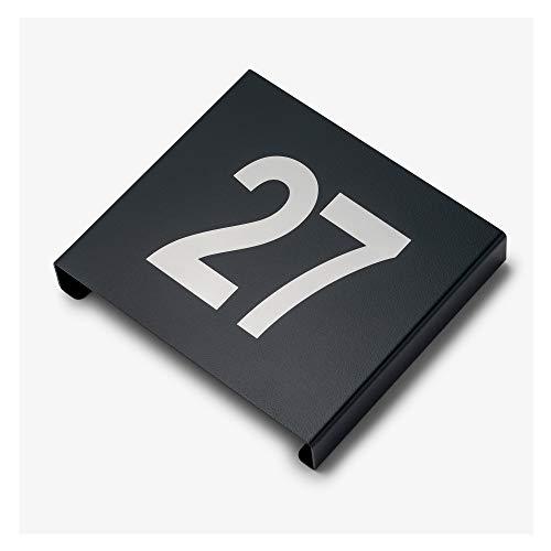 Elektroschmiede Hausnummernschild 3D-Optik/personalisierbar mit Hausnummer/Made in Germany/Spezieller Außenbereich Pulverbeschichtung/Größe 17 x 19 cm/Inkl. Befestigungsmaterial