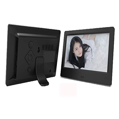 YIJIAN 7 Zoll HD Digital Photo Frame Video Player Digitaler Bilderrahmen mit Musik, Video-Funktion (Color : Black)