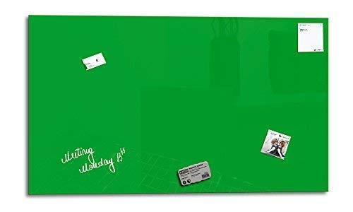 Glas Expert   Smart Glass Board ®   Glas Whiteboard   90 x 45 cm   Grün   Magnettafel   Memoboard   Magnetwand   + 3 Magnete + 1 Marker