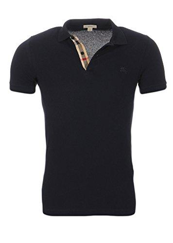 BURBERRY Polo BRIT Herren Slim Fit Poloshirt S-M-L-XL-XXL Outletware, Farbe:Schwarz, Größe:XL