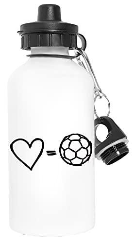 Amor Equivale Fútbol Deporte Viaje Blanco Botella De Agua Metal Prueba de Fugas Sport Travel White Water Bottle Leak-Proof