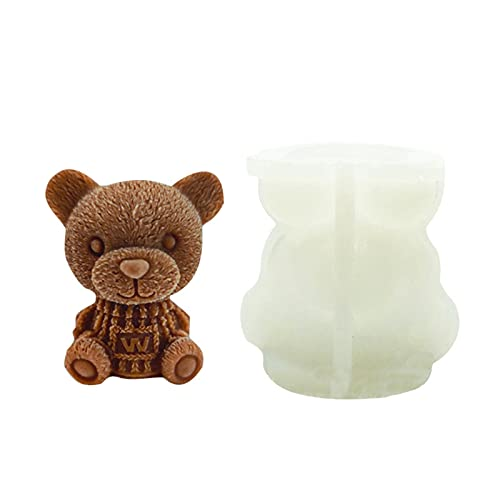 ZS ZHISHANG Bear Ice Cubes Tray Mold Cute Silicone Innovative Coffee Milks Teas Ice Tray Mold 3D DIY Drink Cake Decoration for Christmas, Party, Family to Make Lovely Ice Coffee, Juice, Cocktail
