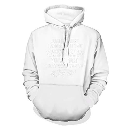 DAMKELLY Store Sudadera unisex con capucha para mantener la boca y la boca, color blanco