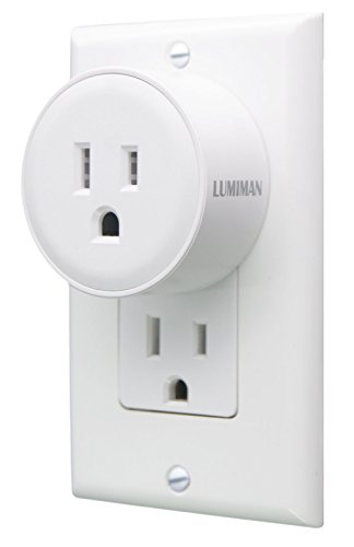LUMIMAN WiFi Alexa Smart Plug Outlet, No Hub Required, Compatible with Alexa and Google Home Assistant, Work with Apple siri Shortcuts