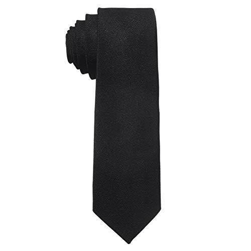 MASADA Corbata para Hombre elaborada a mano y con gran esmero 6 cm de ancho - Negro
