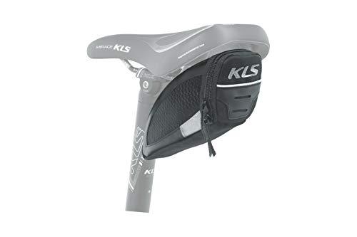 Kellys Challenger T-System - Alforja para sillín (talla M, impermeable, reflectante, 0,7 L), color negro