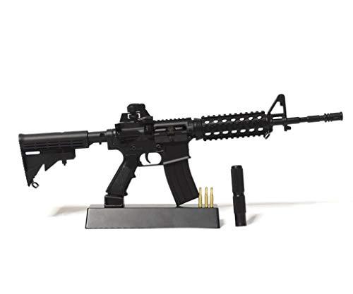 Ghost Modell Dummy Waffe - Dekoratives Metall-Mock-up mit Präsentationsständer-A Sammlerstück: Kit # 1 M4-Gewehr