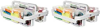 $91 » Deflecto Desk Supplies Organizer Caddy, Three Clear Compartments (29003) (2-(Pack))