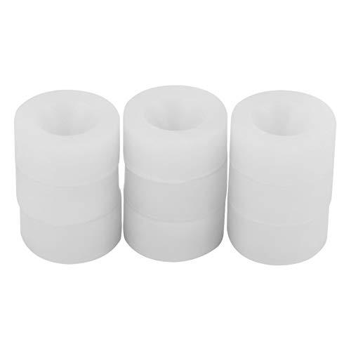 9pcs 10-20mm elástico botella taponado almohadillas de goma de silicona respetuoso del medio ambiente Pad Set material flexible no tóxico para la máquina de tapado de botellas eléctricas manual