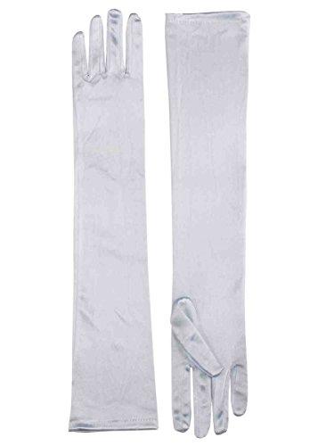 Forum Novelties Long White Adult Female Costume Satin Dress Gloves One Size