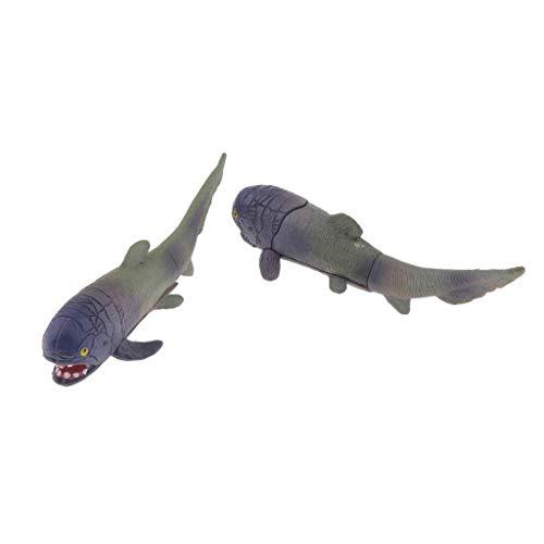PETSOLA 2pcs künstliche Tiere Modelle Spielzeug Terrarium Aquarium Dekoration - Haie