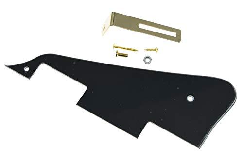 KAISH Black 3 Ply LP, Golpeador de guitarra con soporte dorado para Epiphone Les Paul.