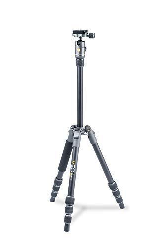 Vanguard VEO2GO204AB Aluminum Travel Tripod with Ball Head for Sony, Nikon, Canon, Fujifilm Mirrorless, Compact System Camera (CSC)