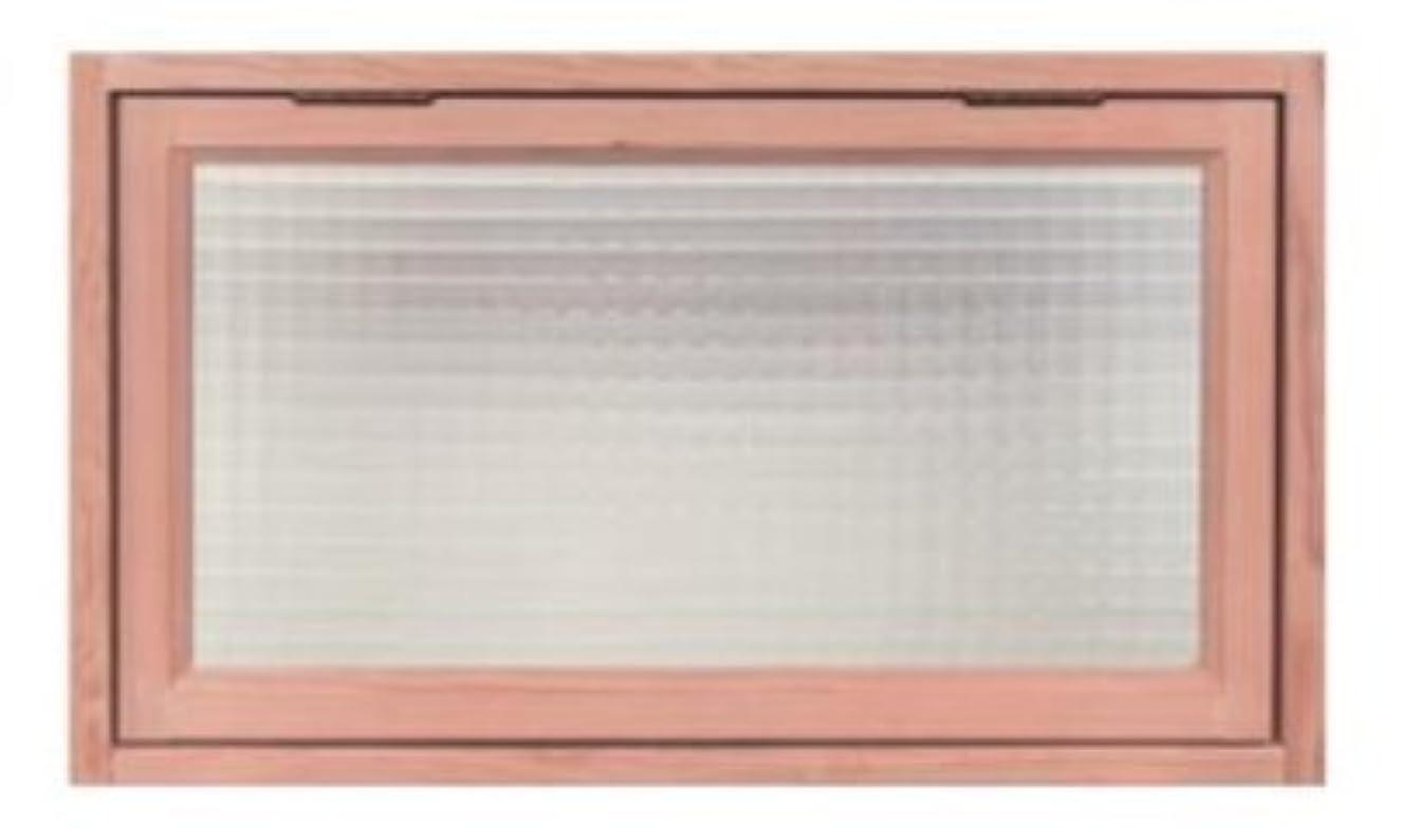 エンターテインメントドアミラーマーカーキムラ スコーグ 天然木質内装窓 なかmado S0604 格子無し チェッカーガラス 無塗装品