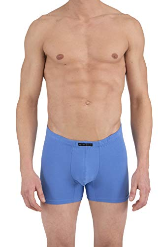 Perry Ellis Men's 4 Pack Covered Waistband Boxer Briefs, Ultramarine/HTR. Grey/White/Platinum, M