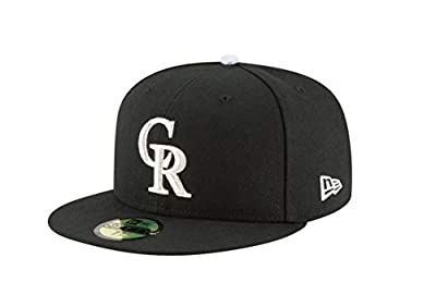 Colorado Rockies 59FIFTY Black on Black Fitted Hat