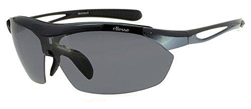 (エレッセ)ellesse スポーツサングラス ES-S108 (3:ブラック×ブルーグレー) メンズ 男性用 偏光 ミラー ...