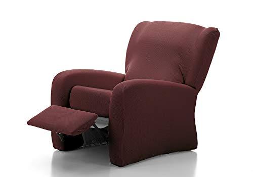 Funda de sofá Elástica Relax Clean (Relax 4 Piezas, Berenjena)