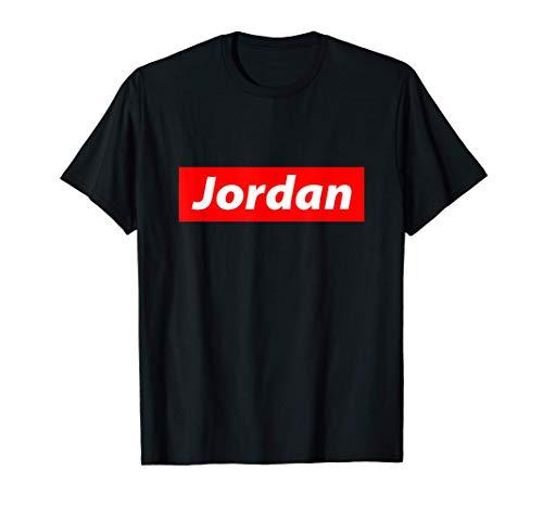 Jordan Gift - Red Box Logo Personalized Name Gift For Jordan Maglietta