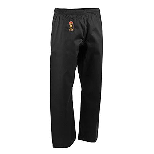 ProForce Gladiator 6oz Karate Pants w/Elastic Waist - Black - Size 5
