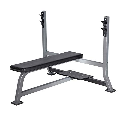 BuyHive Olympic Weight Bench Press Power Training Workout Flat Bench Squat Rack Strength Training Home Gym Fitness