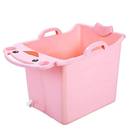 LYzpf Opvouwbare babybadkuip groot douchekop kan worden gezet kan worden en veilig en robuust, antislip babyartikelen badkuip kinderbadkuip bademmer
