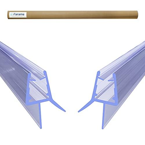 2 Stück Sealify Ersatz Duschdichtung PVC Dichtung für 5mm 6mm 7mm 8mm Glastür Duschwand Duschkabine Wasserabweiser Schwallschutz Abdichtung Leiste - Transparent (2x100cm)