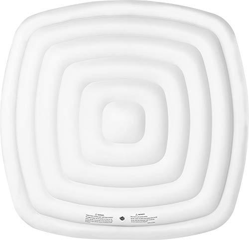 SHATCHI Energiesparende Spa-Abdeckung für Mspa Whirlpool, aufblasbarer Whirlpool-Deckel, schützender Regenüberlauf, Wärmedämmungstechnologie, 6 Personen, quadratische Blase, 160 x 160 cm, Weiß