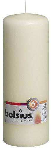 Bolsius Stumpenkerze, für Innen- und Außenbereich, 200 x 70 mm, elfenbein