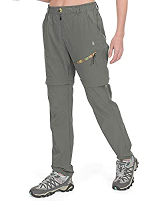Little Donkey Andy Women's Convertible Hiking Pants Lightweight Zip-Off Pants Quick Dry UPF 50 Silver Sage Size S