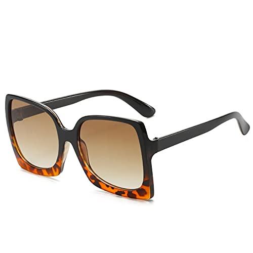 DAIDAICDK Gafas de Sol cuadradas para Mujer Gafas de Sol con Montura Grande Gafas de Sol para Mujer de Color sólido Accesorios para el Coche al Aire Libre