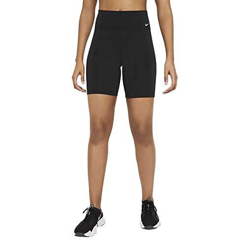 NIKE W One MR 7' Short 2.0 Pantalones Cortos, Black/(White), X-Large para Mujer
