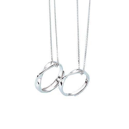 kokoromilove ペア ネックレス シルバー925 ペアネックレス 2個セット カップル お揃い 指輪可能 ネックレス お揃いプレゼント 記念日 おしゃれなギフトラッピング済み