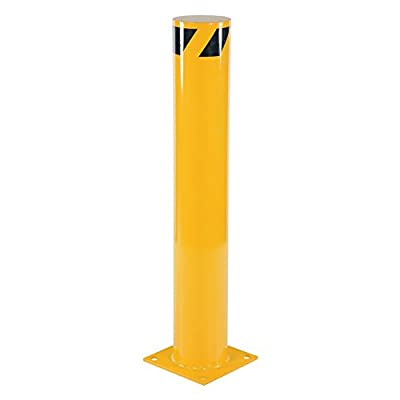 Bollard Post - Steel Safety Barrier Protection- Yellow Powder Coat