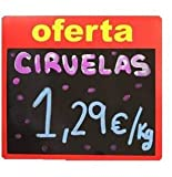 B BALSAT Pizarra Oferta para Comercio, supermercado, pizarras para carniceria, charcuteria, fruteria - 12 ud.